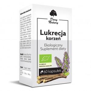 KORZEŃ LUKRECJI BIO 60 KAPSUŁEK (550 mg) – DARY NATURY