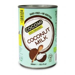COCONUT MILK - NAPÓJ KOKOSOWY BEZ GUMY GUAR W PUSZCE (17% TŁUSZCZU) BIO 400 ml - COCOMI