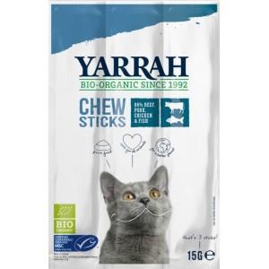 (DLA KOTA) PAŁECZKI DO GRYZIENIA Z WOŁOWINĄ BIO 15 g (3x5 g) - YARRAH