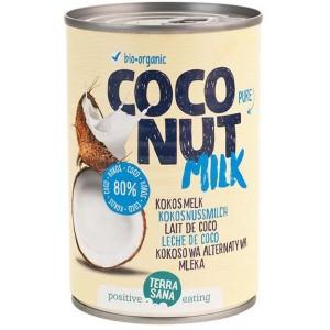 COCONUT MILK - NAPÓJ KOKOSOWY BEZ GUMY GUAR W PUSZCE (22 % TŁUSZCZU) BIO 400 ml - TERRASANA