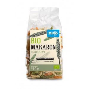 MAKARON (ORKISZOWY TRÓJKOLOROWY) ŚLIMACZKI BIO 250 g - NIRO