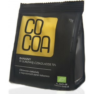 BANANY W CZEKOLADZIE 70 % BIO 70 g - COCOA