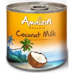 COCONUT MILK - NAPÓJ KOKOSOWY W PUSZCE (17 % TŁUSZCZU) BIO 200 ml - AMAIZIN