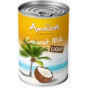 COCONUT MILK - NAPÓJ KOKOSOWY LIGHT W PUSZCE (9 % TŁUSZCZU) BIO 400 ml -  AMAIZIN
