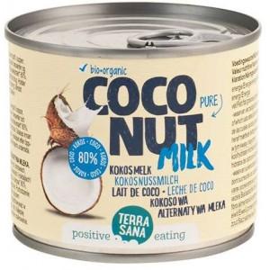 COCONUT MILK - NAPÓJ KOKOSOWY BEZ GUMY GUAR W PUSZCE (22 % TŁUSZCZU) BIO 200 ml - TERRASANA
