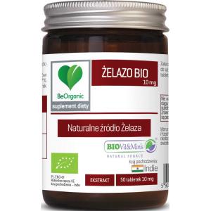ŻELAZO EKSTRAKT BIO 50 TABLETEK (10 mg) - BE ORGANIC