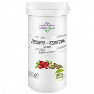 ŻURAWINA + PESTKI DYNI EKSTRAKT 60 KAPSUŁEK (275 mg + 275 mg) - SOUL FARM