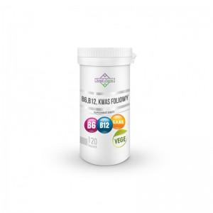 WITAMINA B6 + B12 + KWAS FOLIOWY 120 KAPSUŁEK (18 mg + 600 mcg + 100 mcg) - SOUL FARM