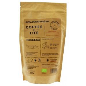 KAWA 100% ARABICA MIELONA INDONEZJA BIO 200 g - ALE EKO CAFE
