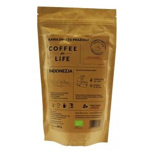 KAWA 100% ARABICA ZIARNISTA INDONEZJA BIO 200 g - ALE EKO CAFE