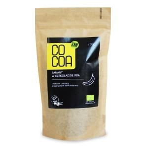 BANANY W CZEKOLADZIE 70% BIO 250 g - COCOA